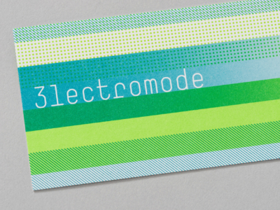Cartes d'affaire Électromode